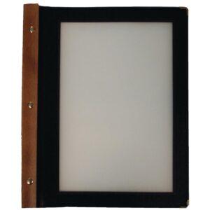 Securit menumap hout A4 zwart