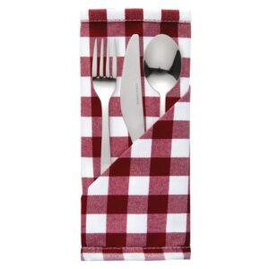Mitre Comfort Gingham servet rood-wit 41x41cm