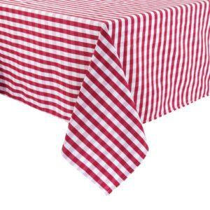 Mitre Comfort Gingham tafelkleed rood-wit 132x132cm