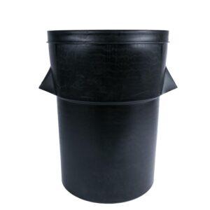 Zwarte kunststof afvalbak 94L