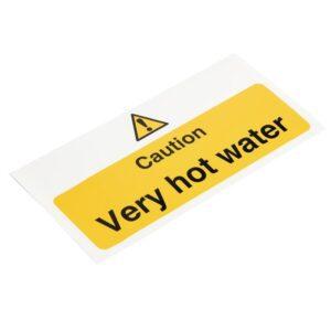 Vogue 'Caution – Very hot water' waarschuwingsbord