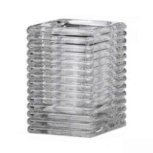 Lamphouder geribbeld helder glas 72x72x98mm