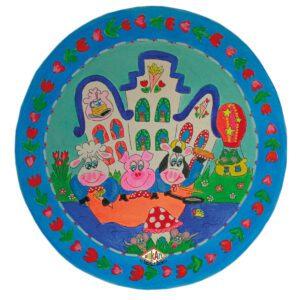 Kinderbord coupe 'pannenkoekenhuis' roze 26.7 cm