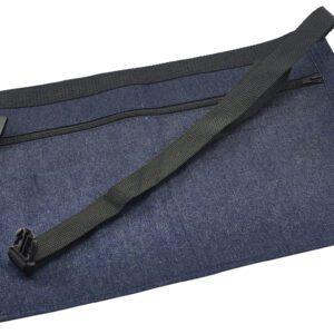 Geld schort spijkerstof donkerblauw 44 x 30 cm