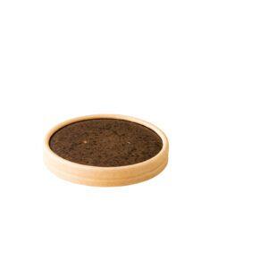 Kraft papieren deksel Stoneblack 9,7 cm 25 st