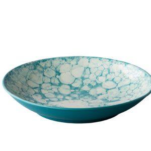 Diep bord Bubble turquoise 25,5 cm