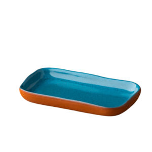Stoneheart snack tapas bord 15 x 8,5 cm blauw