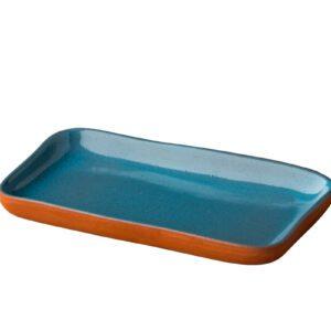 Stoneheart snack tapas bord 19 x 11,2 cm blauw