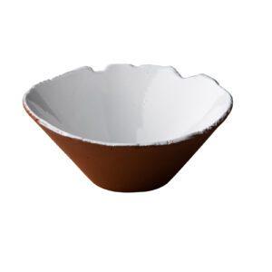 Stoneheart organische kom 16 x 9,5 cm wit
