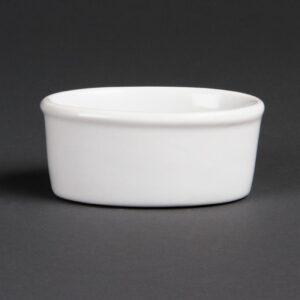 Olympia Whiteware ovale ramekins 10,5cm