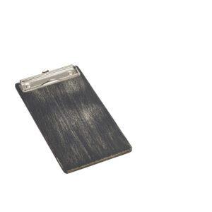 Houten menu klembord zwart 24,5 x 13 cm