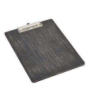 Houten menu klembord zwart A4