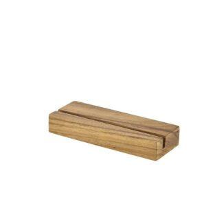 Acacia hout menu houder 20×3.2×7.5