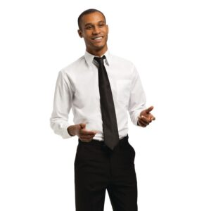 Uniform Works unisex overhemd lange mouw wit XL