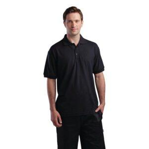 Unisex poloshirt zwart XL