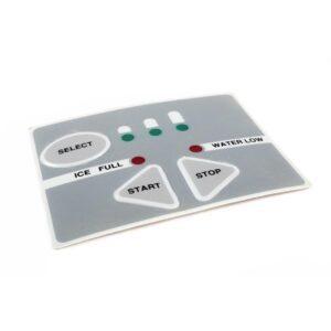 Sticker bedieningspaneel