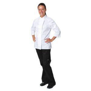 Chef Works Verona Cool Vent dames koksbuis wit met grijs XS