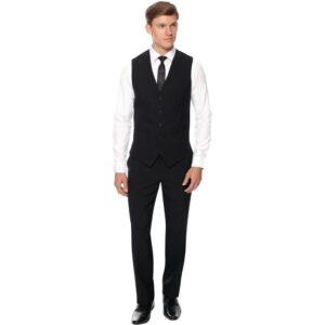 Herenpantalon zwart standaard lengte 46″