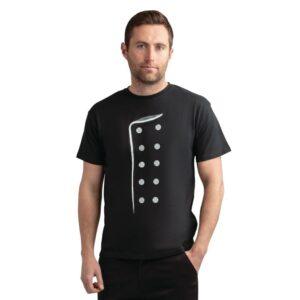 Chef print t-shirt zwart XL