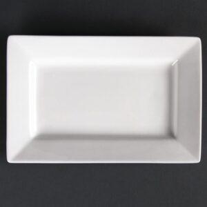 Lumina rechthoekige schalen met brede rand 20x13cm
