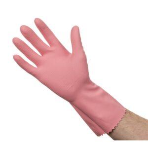 Jantex huishoudhandschoenen roze L