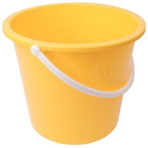 Jantex kunststof emmer 10L geel
