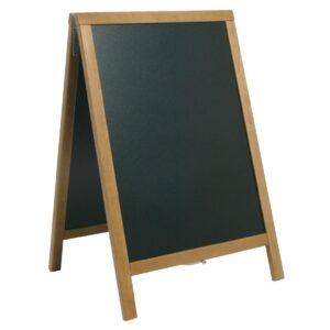 Securit Duplo teakhouten stoepbord 85x55cm
