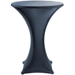 Jersey stretch tafelrok zwart 80x105cm voor DL046