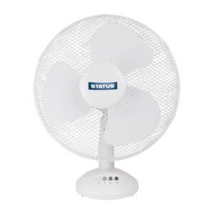 Status 30cm oscillerende ventilator wit