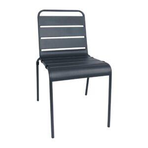 Bolero stalen stoel grijs