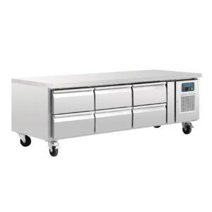Polar GN laag model koelwerkbank 6 laden