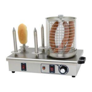 Buffalo hotdogwarmer met 4 warmhoudpennen