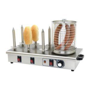 Buffalo hotdogwarmer met 6 warmhoudpennen