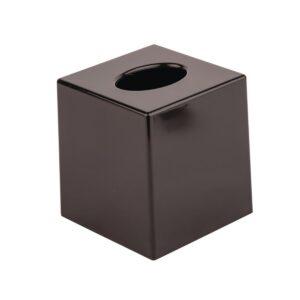 Zwarte vierkante tissue box