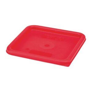 Cambro Camsquare deksel voor voedseldoos rood