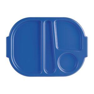 Kristallon polycarbonaat schaaltje met vakken klein blauw 322mm