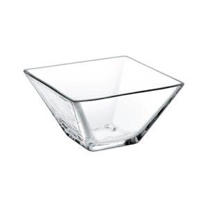 Glazen kom vierkant 10,5 cm
