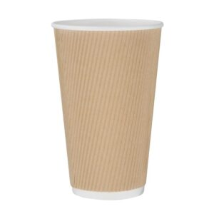 Fiesta koffiebeker ribbelwand kraft 455ml (500 stuks)