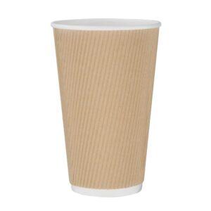 Fiesta koffiebeker ribbelwand kraft 455ml (25 stuks)