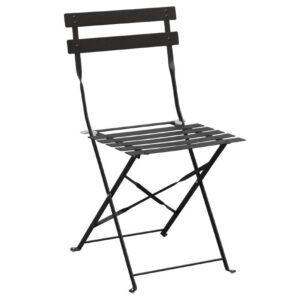 Bolero stalen opklapbare stoelen zwart