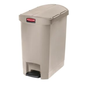Rubbermaid Slim Jim End Step pedaalemmer 30L beige