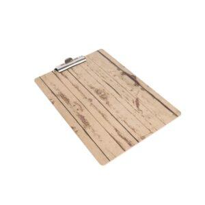 Olympia menu klembord met hout-effect A5