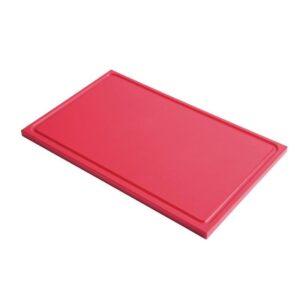 Gastro M GN1/2 HDPE snijplank met sapgeul rood