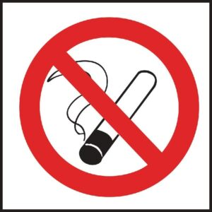 Vogue verboden te roken vinyl sticker
