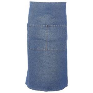 Taille schort spijkerstof blauw 90 x 70 cm