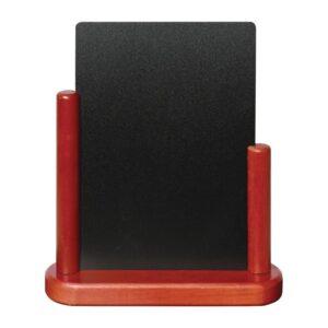 Securit tafelkrijtbordje mahonie 17×15,5cm