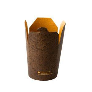 Kraft noodle box Stoneblack 470 ml 50 st