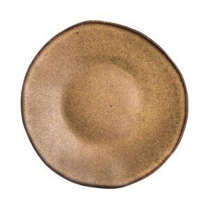 Q Authentic Stone Brown bord 21 cm