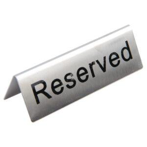 Olympia RVS tafelbordje Reserved