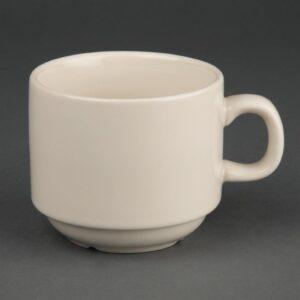 Olympia Ivory stapelbare koffiekopjes 206ml